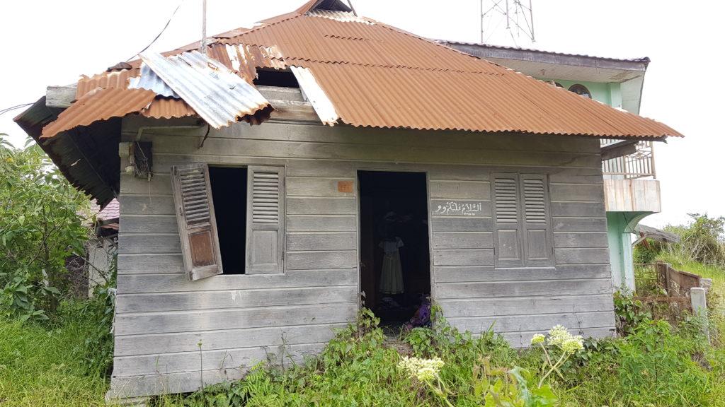 Verlassenes Haus im Geisterdorf