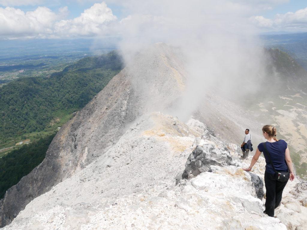 Vulkan-Trekking Sibayak: Rückweg