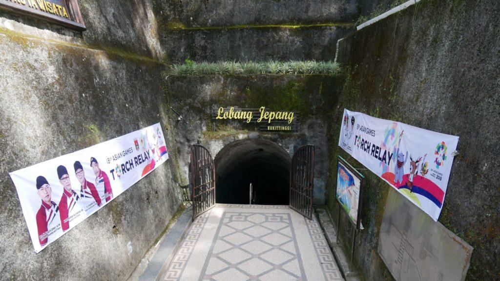 Lobang Jepang: Eingang
