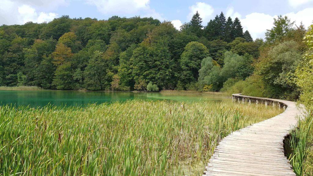 Holzsteg durch die oberen Seen