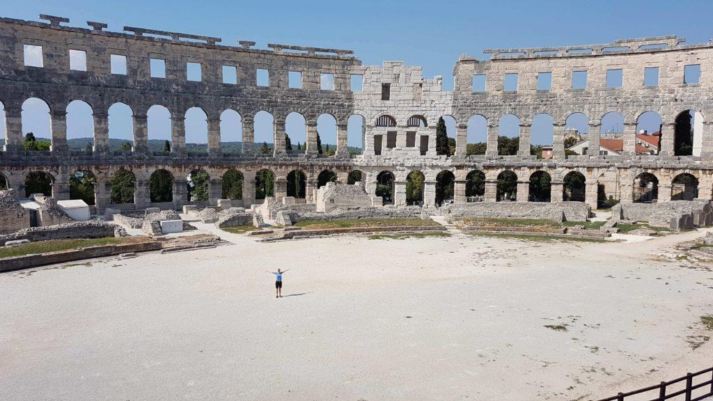 Urlaub zu Corona-Zeiten: Amphitheater Pula