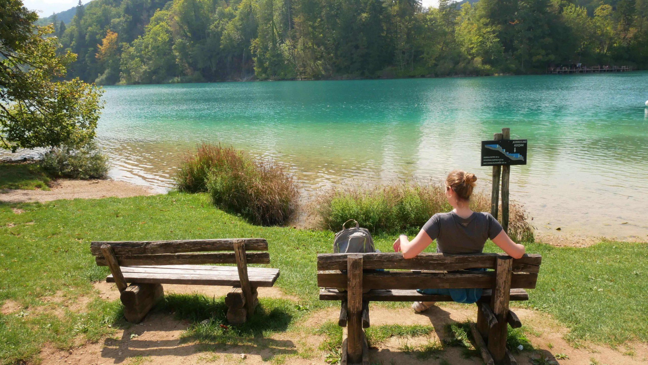 Pause am Kozjak-See