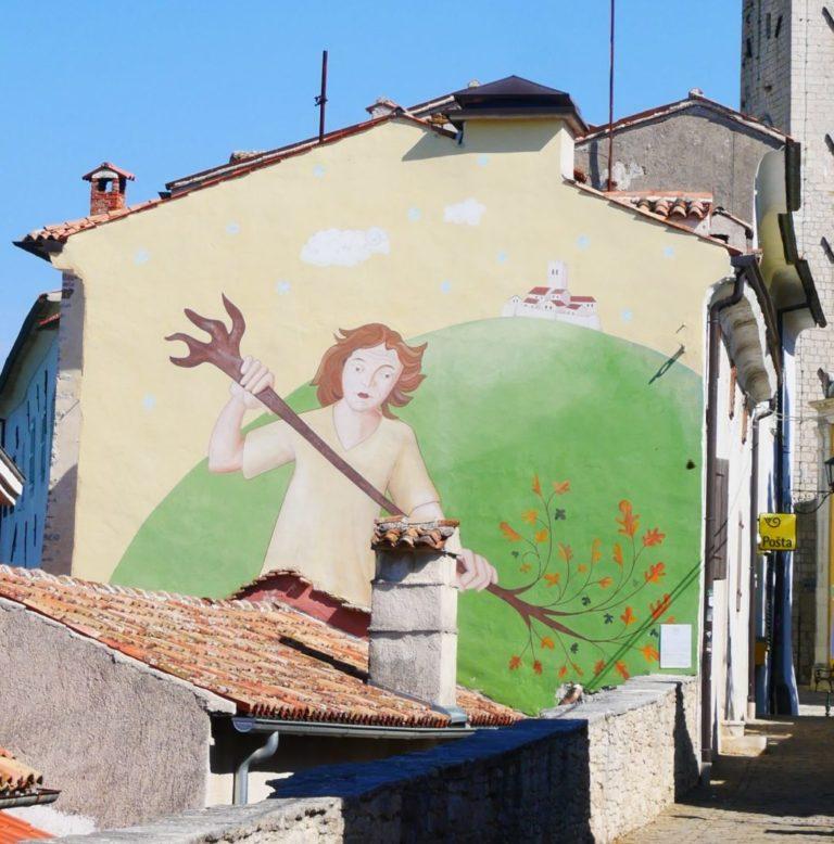Wandgemälde in Motovun